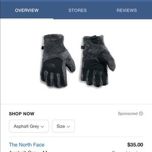 The North Face Womens Osito Etip Glove S NWT